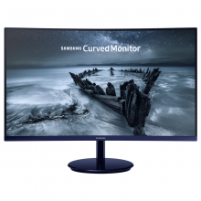 三星(SAMSUNG)27英寸 1800R窄边框旗舰曲面 宝马蓝色液晶电脑显示器C27H580FDC(HDMI/DP双接口)