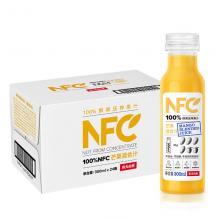 农夫山泉 NFC果汁饮料 100%NFC芒果混合汁300ml*24瓶 整箱装