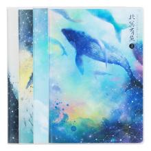 得力(deli)4本32K72张北冥有鱼-幻梦系列学生胶套本套装软抄本记事本日记本笔记本子文具T3272-23