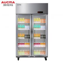 澳柯玛(AUCMA)商用立式双门展示柜 水果蔬菜保鲜冰柜全冷藏玻璃门厨房冰箱VC-660D