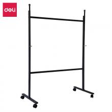 得力(deli)112*57*151cm可移动白板架、通用型白板架(加厚、稳定、双横杠)7870