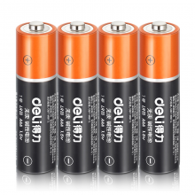 得力(deli)电池5号/7号碱性大容量电池五号/七号办公家用玩具干电池7号电池/4粒(18507)
