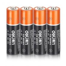 得力(deli)电池5号/7号碱性大容量电池五号/七号办公家用玩具干电池5号电池/4粒(18503)
