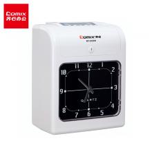 齐心(Comix)快速打卡考勤机音乐报时卡钟打卡机MT-6100N微电脑自动移位考勤卡钟(停电不能打卡)