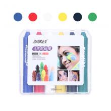 宝克(BAOKE)CH06 人体彩绘笔旋转可水洗 蜡笔儿童化妆彩笔  6色