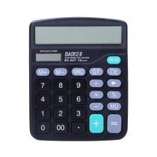 宝克(BAOKE)EC837 12位大屏幕双电源桌面计算机桌面通用办公计算器