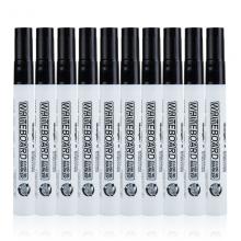 广博(GuangBo)黑色可擦易擦白板笔 单头办公会议笔10支装BB8528D