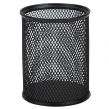 广博(GuangBo)圆形网纹防锈办公金属笔筒 创意简约桌面收纳WZ/WJ5922