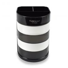 富得快(Fudek)四层多功能办公笔筒 创意桌面收纳盒 办公用品黑色FE7684P