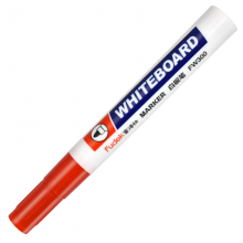 富得快(Fudek)白板笔套装 可擦易擦 办公会议 红色10支/盒 FW300