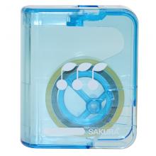 樱花(SAKURA)胶带盒透明胶玻璃胶 带切割器(蓝色)小学生文具系列