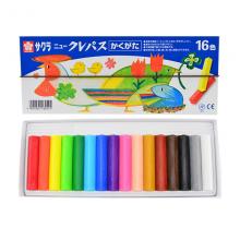 樱花(SAKURA)油画棒蜡笔美术儿童绘画 16色套装方形笔杆带色卡松紧带NEP-16