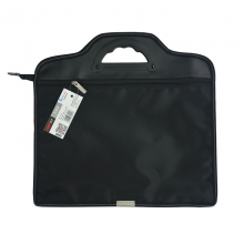 远生(USign)双层事务包拉链袋 手提商务会议包 双层文件袋休闲公文包拉链袋公文包底部加宽T004(350*345*60mm)
