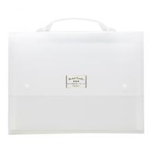 国誉(KOKUYO)淡彩曲奇风琴包文件夹12层13袋 A4透明1个装WSG-DFC130T
