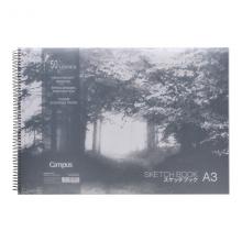 国誉(KOKUYO)Campus PP面螺旋装订图画本素描本白纸A3/50页1个装WCN-PS7051N