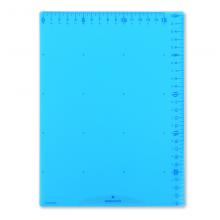 国誉(KOKUYO)学生办公用带尺刻度垫板网格型250*180*0.6mmB5蓝色GY-GCG100B