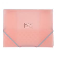 国誉(KOKUYO)淡彩曲奇学生办公文件盒风琴包分类册A4(A3对折)310*240*3mm粉色WSG-FUC920P