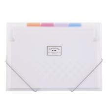 国誉(KOKUYO)淡彩曲奇学生薄款松紧风琴包/资料册/文件夹/收纳袋A46层7袋透明WSG-DFC70T