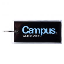 国誉(KOKUYO)Campus随身便携式PVC封套空白记英语单词卡随身本85*38mm60页/本蓝色TAN-120