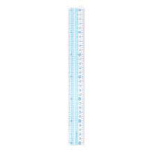 国誉(KOKUYO)淡彩曲奇30cm透明直尺 绘画考试尺刻度清晰韧性足透明蓝1个装GY-GBA111B