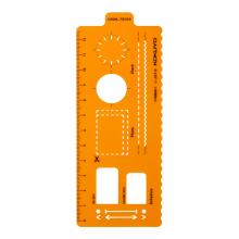 国誉(KOKUYO)自我手帐模板尺橙色 1个装 NI-JG7-2