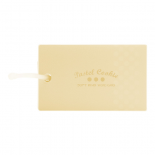 国誉(KOKUYO)淡彩曲奇软线圈单词卡 PVC封面便携空白本子迷你口袋单词本黄色大号1本装WSG-TGSC02Y