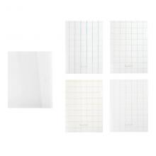 国誉(KOKUYO)格子印象·KATASU-R文件夹312×252×6mm透明(四色混装)A4S1个装WSG-FUL820