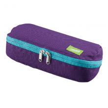 国誉(KOKUYO)品大口笔袋 紫X翠绿 200*100*55mm 1个装F-VBF190-4