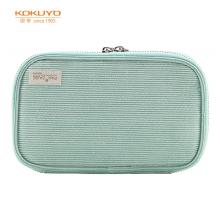 国誉(KOKUYO)PAN!CASE文具笔袋大容量铅笔收纳盒 绿色1个装WSG-PC132G