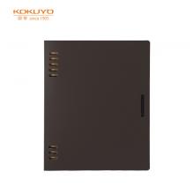 国誉(KOKUYO)一米新纯活页本A5/40页8孔办公笔记本活页纸可替换深棕/附索引分隔页1本装WSG-RUSP12DS