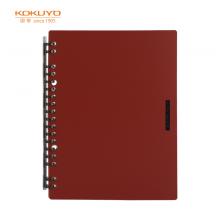 国誉(KOKUYO)一米新纯超薄活页本A5/20页18孔办公笔记本活页纸可替换红色1本装WSG-RUSP52R