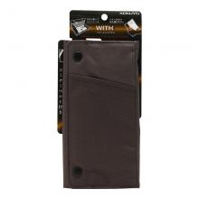 国誉(KOKUYO)便携笔袋 多功能手持铅笔盒可夹课本上的创意文具盒棕色1个装F-VBF170-4