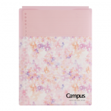 国誉(KOKUYO)Campus限定便携活页纸文件保护套收纳袋资料袋粉色B5/30页1本装NO-C836BT-L8P