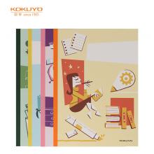 国誉(KOKUYO)设计本无线装订本软抄本记事本子笔记本B5/40页文具与生活4本装WCN-DNB54-J71