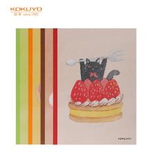 国誉(KOKUYO)设计本胶装订本软抄本记事本子笔记本 A5/40页甜点代言4本装WCN-DNA54-J74