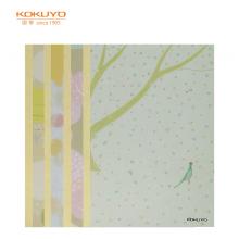 国誉(KOKUYO)设计本胶装订本软抄本记事本子笔记本 A5/40页风色彩4本装WCN-DNA54-J72
