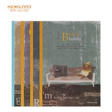 国誉(KOKUYO)设计本无线装订本软抄本记事本子笔记本A5/40页小动物的爱好4本装WCN-DNA54-J68