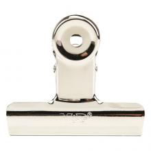 晨光(M&G)文具76mm银色圆形票夹 办公资料整理夹 不锈钢财务票据夹 6个装ABS92645