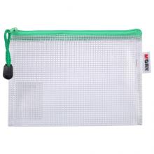 晨光(M&G)文具A6/10个装网格拉链袋 办公文件袋资料袋 普惠型文件整理收纳袋 颜色随机ADMN4286