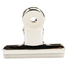 晨光(M&G)文具64mm银色圆形票夹 办公资料整理夹 不锈钢财务票据夹 6个装ABS92644