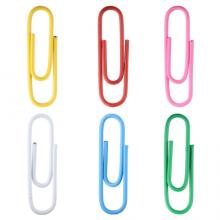 晨光(M&G)文具彩色防锈回形针 金属曲别针 办公用品 100枚/袋ABSN2661