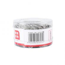 晨光(M&G)文具3#镀镍防锈回形针 金属曲PVC桶装曲别针 办公用品 200枚/盒ABS91697