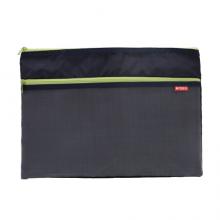 晨光(M&G)文具A4/4色双层拉链袋 布面半透明文件袋 办公资料整理收纳袋子 4个装ADM92959