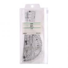 晨光(M&G)文具办公学习考试绘图测量套尺 简系列 (15cm直尺+三角尺*2+量角器)组合装 4件套