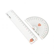 晨光(M&G)文具办公学习考试绘图测量套尺 (直尺+三角尺*2+量角器)组合装 4件套