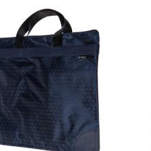 晨光(M&G)文具A4蓝色纹手提会议包 事务包 大容量商务公文拉链袋 资料袋文件袋 单个装