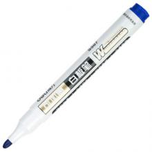 得力(deli)S507可加墨白板笔 可擦易擦 10支蓝 办公用品