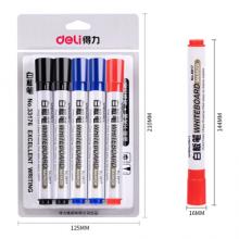 得力(deli)白板笔套装 可擦易擦 办公会议 7黑2蓝1红 办公用品 DLSX-33176