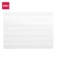 得力(deli)10只/A4透明条纹拉链袋 磨砂感文件资料袋试卷袋5568