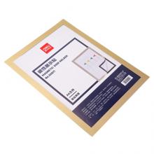 得力(deli)A4磁性展示贴 营业执照副本保护套 公告栏通知贴纸 办公用品 金色50871